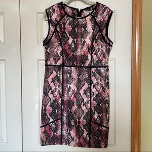 Jennifer Lopez Snakeskin print sleeveless dress
